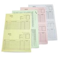Самокопирующаяся бумага А4, зеленый верх, 1 лист