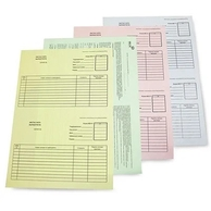 Самокопирующаяся бумага А4 желтый низ, 1 лист