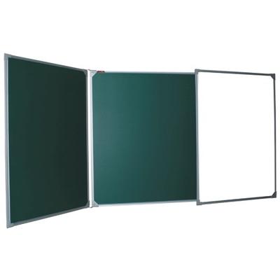 Магнитно-меловая доска двухсторонняя, 100х150/300 см