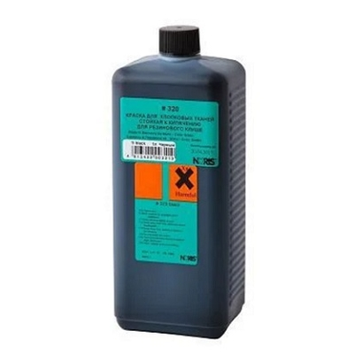 Краска для ткани Noris 320 черная 250 мл чёрная