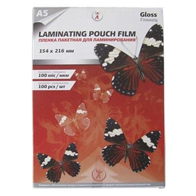 Пленка для ламинирования А5 100 мкм, упаковка 100 шт.