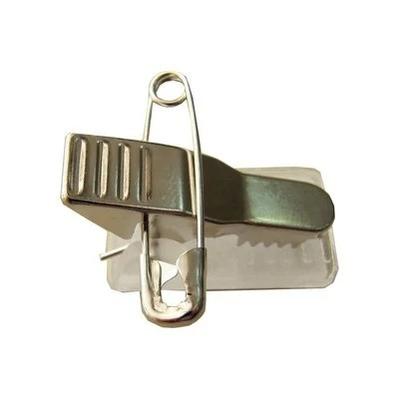 Самоклеющаяся металлическая клипса с булавкой