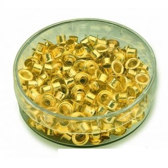 Люверсы, d=4.8мм золото (250штук)