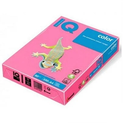 Бумага А4 IQ 80 г/м2, розовый неон
